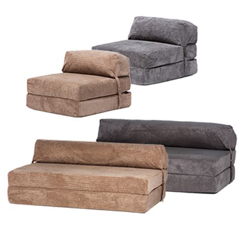 Foldable Futon Sofa Bed by Corduroy Fold Out Single Guest Z Chairbed Folding