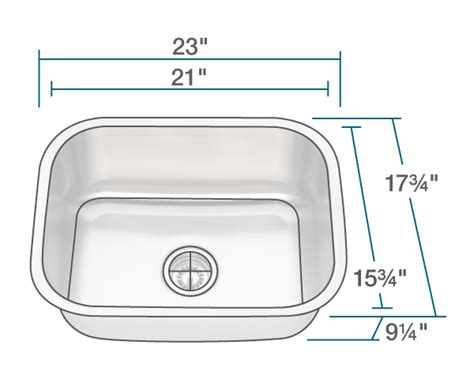 Single Bowl Kitchen Sink Sizes 2318 Single Bowl Stainless Steel Kitchen Sink