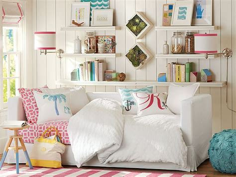 pbteen bedrooms jamie stripe bedroom pbteen girls rooms pinterest