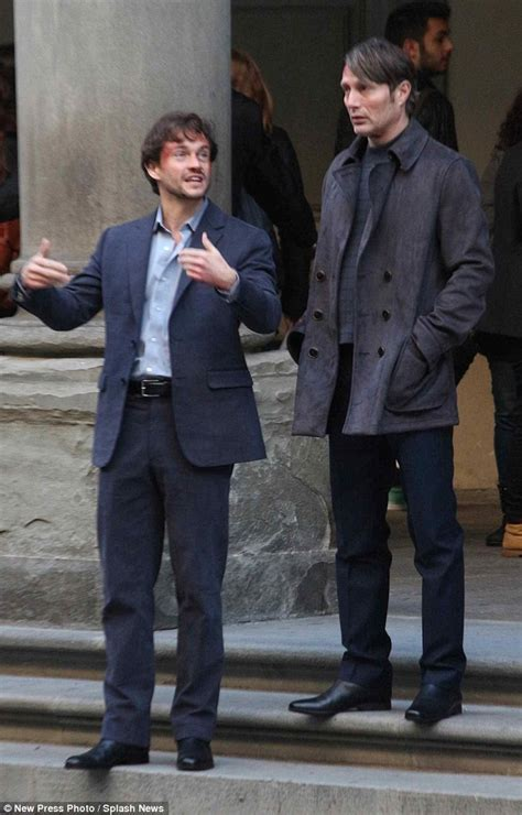 The Closest Blood Bond mads mikkelsen and hugh dancy kick hannibal filming in