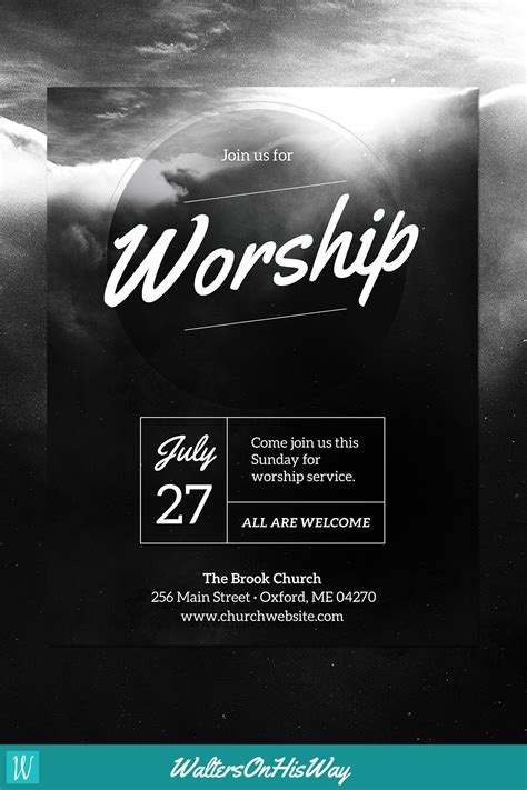Diy Church Event Flyer Template Heavenly Worship For Word Photoshop Basic Pinterest Church Event Flyer Templates