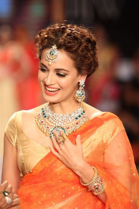 Hairstyles For Wavy Hair For Saree by Curly Hairstyles For Saree
