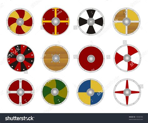 viking shield template viking s shields stock photo 13936705