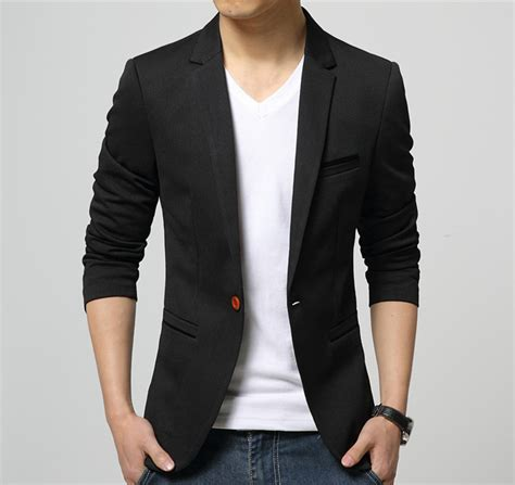 blazer pria korea slim fit mens korean slim fit cotton blazer black size m clacent