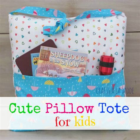 How To Make A Book Pillow by Pocket Pillow Tote For Books Crafts A La Mode