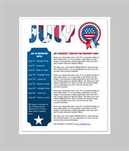 Newsletter Template In Word by 6 Free Newsletter Word Templates Excel Pdf Formats