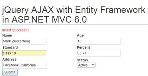 tutorial asp net mvc entity framework jquery ajax with entity framework in asp net mvc codeproject