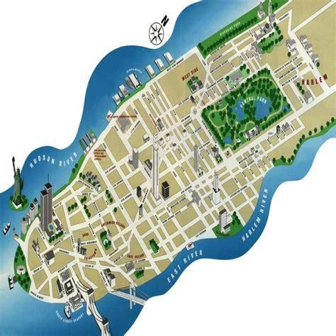 map of manhattan island view original image