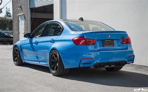 Bmw M3 Blue by Yas Marina Blue Bmw M3 With M Performance Goodies Volk