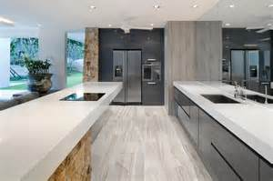 Modern Kitchen Flooring Ideas by 6x36 Amelia Mist Floor Tile Modern Kitchen New York