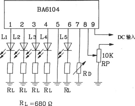 basic knowledge of integrated circuit the basic application circuit of ba6104 5 bit led level meter driver integrated circuit basic