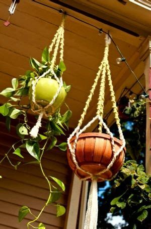 Yarn Plant Hanger - plant hangers hangers and plants on