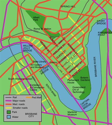 printable map brisbane cbd brisbane central business district wikiwand