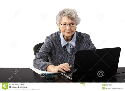 Business Woman Watching Suspicious News On The Internet Stock Photo   Image: 39489838