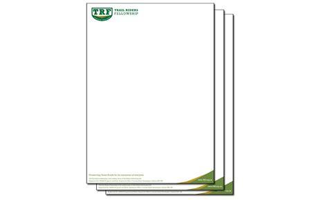 Official Letterhead Paper Letterhead Paper Trf