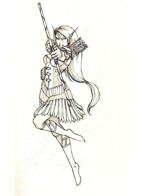 elf archer 2 final by mansarali on deviantart