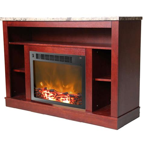 cambridge electric fireplace cambridge seville 47 in electric fireplace in mahogany