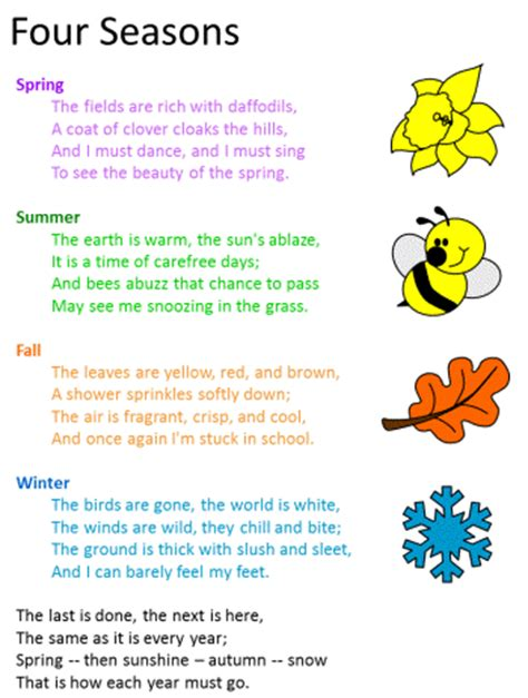 four seasons poem by cecil frances alexander