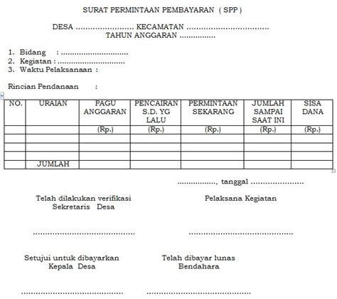 format surat pernyataan tanggungjawab pengguna anggaran pengelolaan keuangan desa sistem dan prosedur pelaksanaan