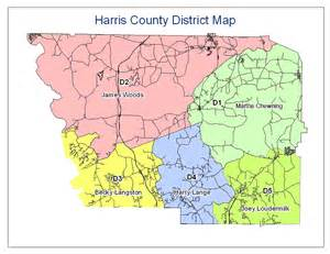 district map district maps harris county