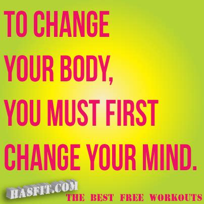 fitness quotes to change your you must change