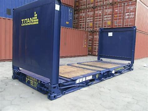Open Rack Container by Open Top Flat Rack High Cube Side Door