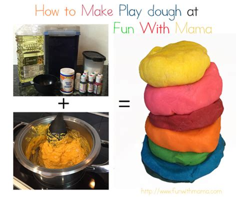 play dough recipe and tutorial with