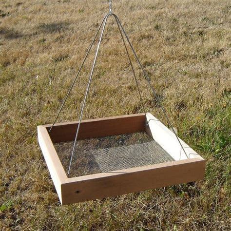 bird feeder durable tray style from reclaimed wood