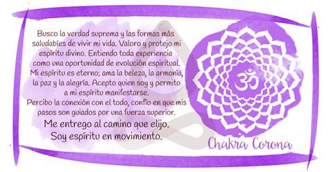meditacion  afirmaciones positivas  cada chakra