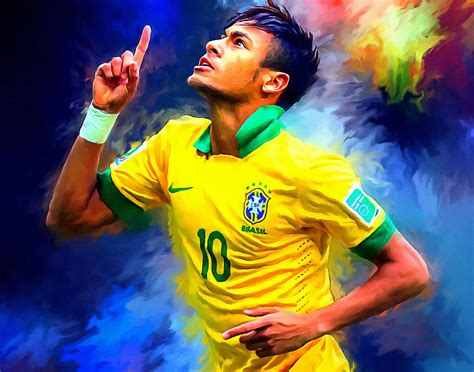 soccer painting neymar football soccer landscape painting painting by