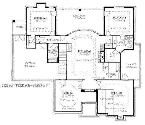 european style floor plans european style house plan 4 beds 4 baths 4948 sq ft plan
