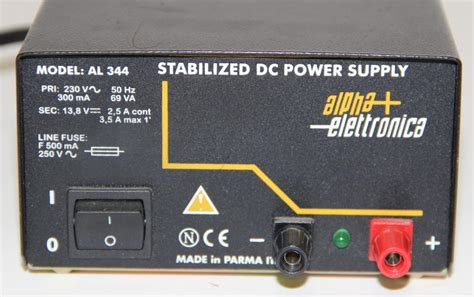alpha elettronica alimentatori alpha elettronica al344 stabilized dc power supply
