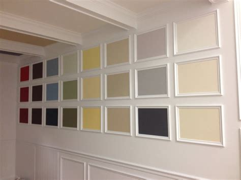 coffered wall coffered ceiling crown molding color wall this was