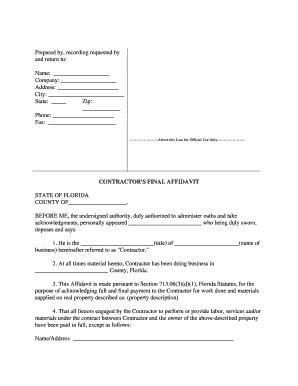 state affidavit fl fill online, printable, fillable