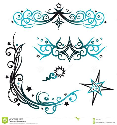 Kemeja Black Line Tribal Blue tribals vector set stock vector image of lines 39093561