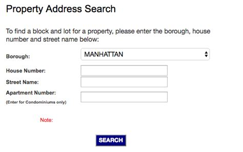Nyc Property Tax Records Image Gallery Nyc Address Search