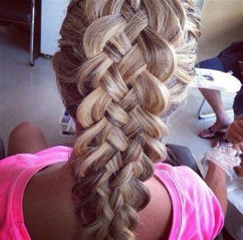 5 strand french braid gorgeous 5 strand dutch braid hair pinterest