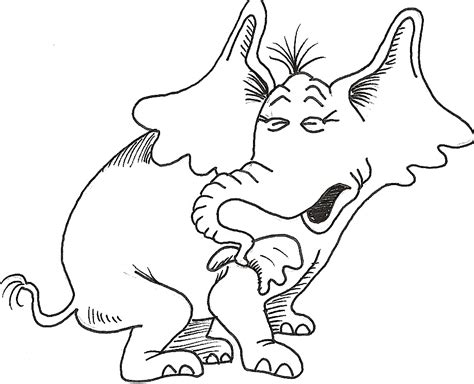 horton hatches the egg coloring page az coloring pages
