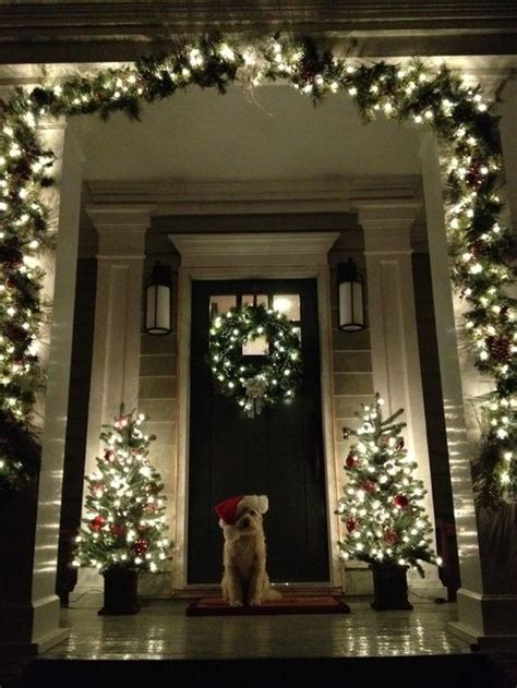 Outdoor Christmas Decorations Ideas Porch 25 Best Ideas About Christmas Lights On Pinterest