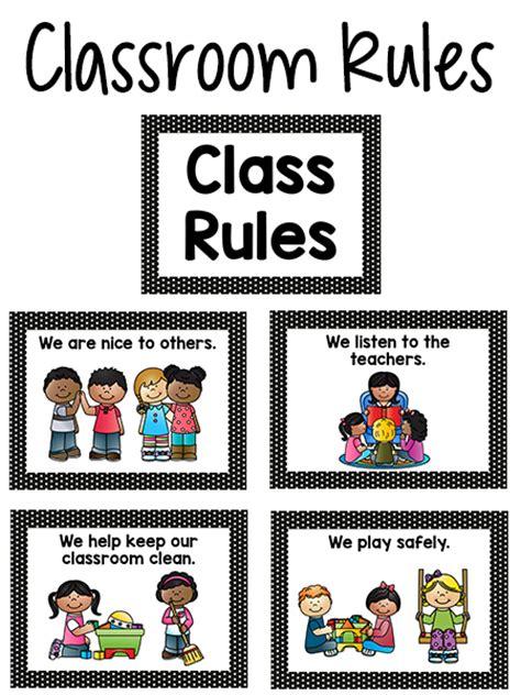 printable poster classroom rules pre k classroom rules prekinders