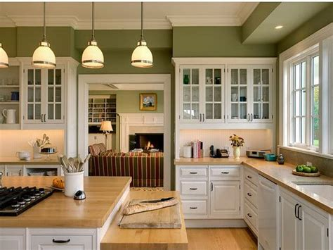 green cabinets for kitchen fortikur - Green Colored Kitchens