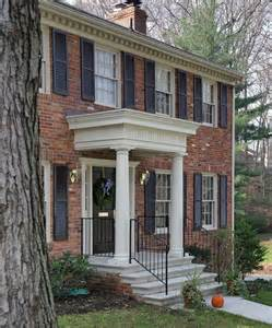 portico on colonial house inside entry for colonials project portfolio colonial homes pinterest flats columns and