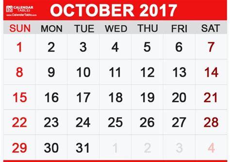 printable calendar landscape october 2017 printable october 2017 calendar calendar table calendar