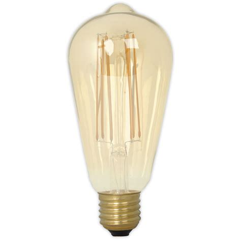 Calex Led Long Filament Squirrel Cage 4w 240v E27 Gold Calex Led Light Bulbs