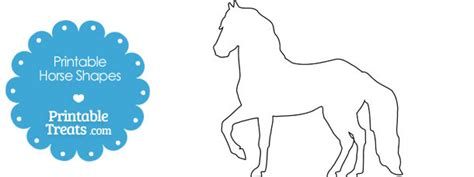 free printable horse shapes horse archives page 2 of 2 printable treats com