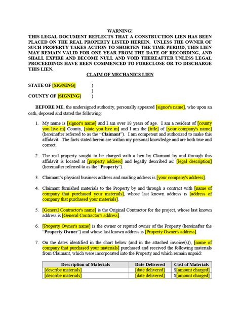 Demand Letter Mechanics Lien Arizona Professionals Mechanic Lien Forms Kits