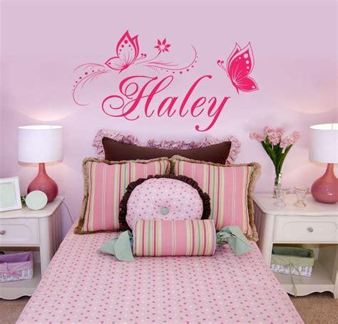 butterfly wall sticker personalized   vinyl wall decal girls bedroom ebay