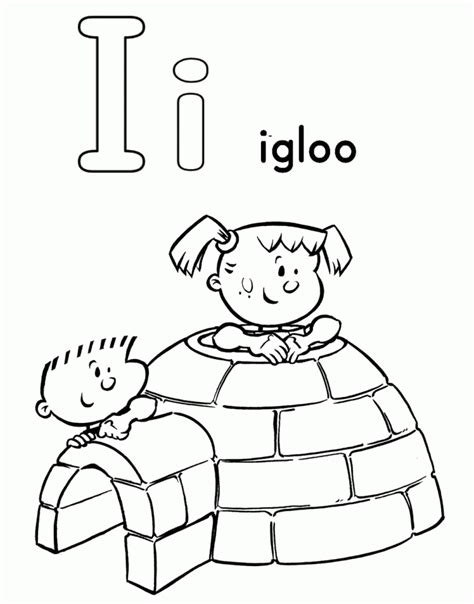 Coloring Page Igloo by Igloo Coloring Page Coloring Home