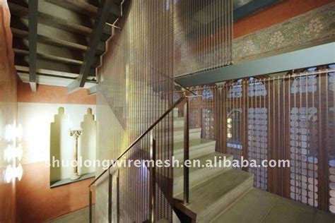 wire curtain room divider slzsw m stainless steel wire mesh screen room divider
