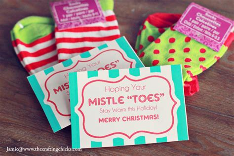 mistle quot toes quot christmas socks gift tag free printable